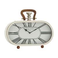 Steel Wood Table Clock