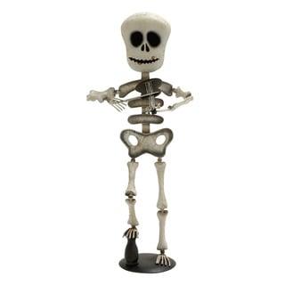 Metal Violin Playing Skeleton Decor