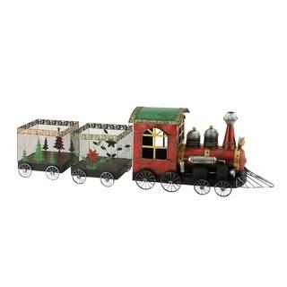 Metal Christmas Train (Set of 3)