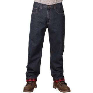 Outback Rider Men's Plaid Flannel Lined Relaxed Fit Jeans