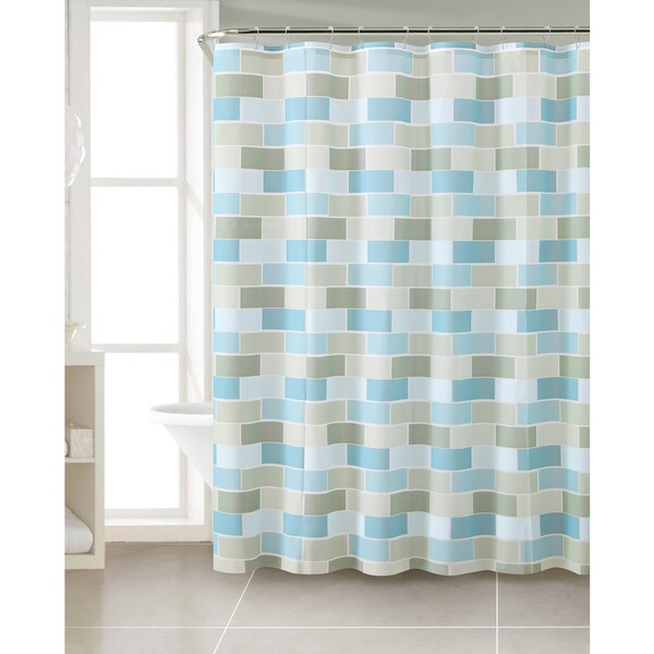 VCNY Structure PEVA Shower Curtain