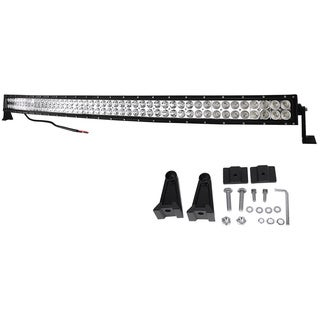 288W 50-INch Curve Bar Driving Fog DRL Offroad SUV 4WD JEEP US Combo Work Led Light