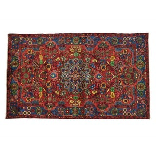 Persian Nahavand Full Pile Oriental Hand-knotted Rug (4'10 x 8')
