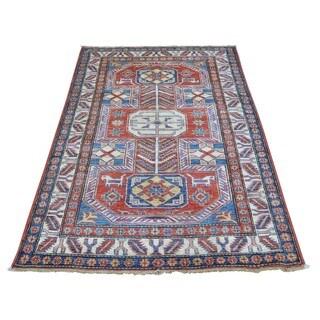Super Kazak Tribal Design Wool Oriental Handmade Rug (3'3 x 5')