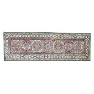 Super Kazak Wool Oriental Handmade Runner Rug (2'8 x 8'3)