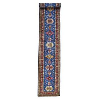 Tribal Design Super Kazak Oriental Handmade XL Runner Rug (2'6 x 18'5)