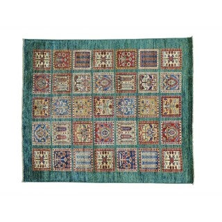 Garden Design Super Kazak Oriental Handmade Rug (5'1 x 6')
