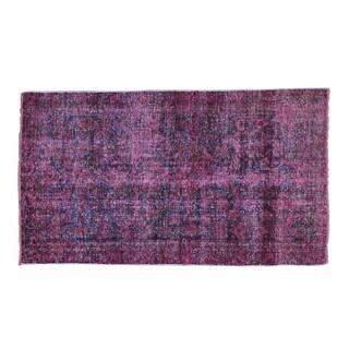Worn Down Persian Hamadan Overdyed Oriental Handmade Rug (3'5 x 6')