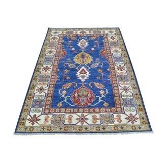Denim Blue Wool Super Kazak Oriental Hand-knotted Rug (3'2 x 5'1)