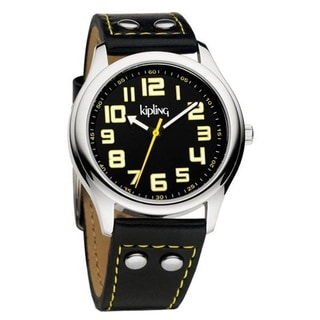 Kipling Unisex Vintage Black Strap Quartz Watch