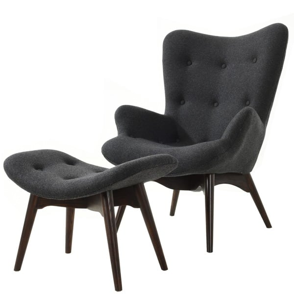 Swell Shop Poly And Bark Contour Lounge Chair And Ottoman In Grey Creativecarmelina Interior Chair Design Creativecarmelinacom