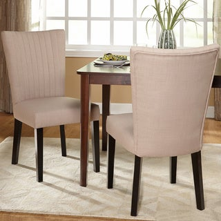 Simple Living Ventura Channeled Back Dining Chair (Set of 2)