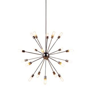 Somette Pelham Polished Nickle Multi-Bulb Pendant Light