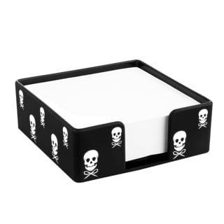 Insten Black/ White Skull Soft Touch Desktop Memo Holder