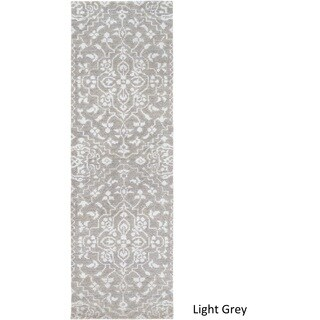 Hand-Knotted Brunoy Wool/Viscose Rug (2'6 x 8')