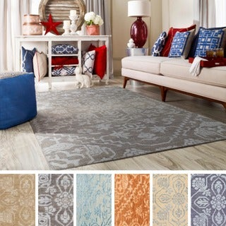 Hand-Knotted Brunoy Wool/Viscose Rug (5' x 7'6)