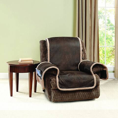 Sure Fit Vintage Leather Recliner Furniture Protector