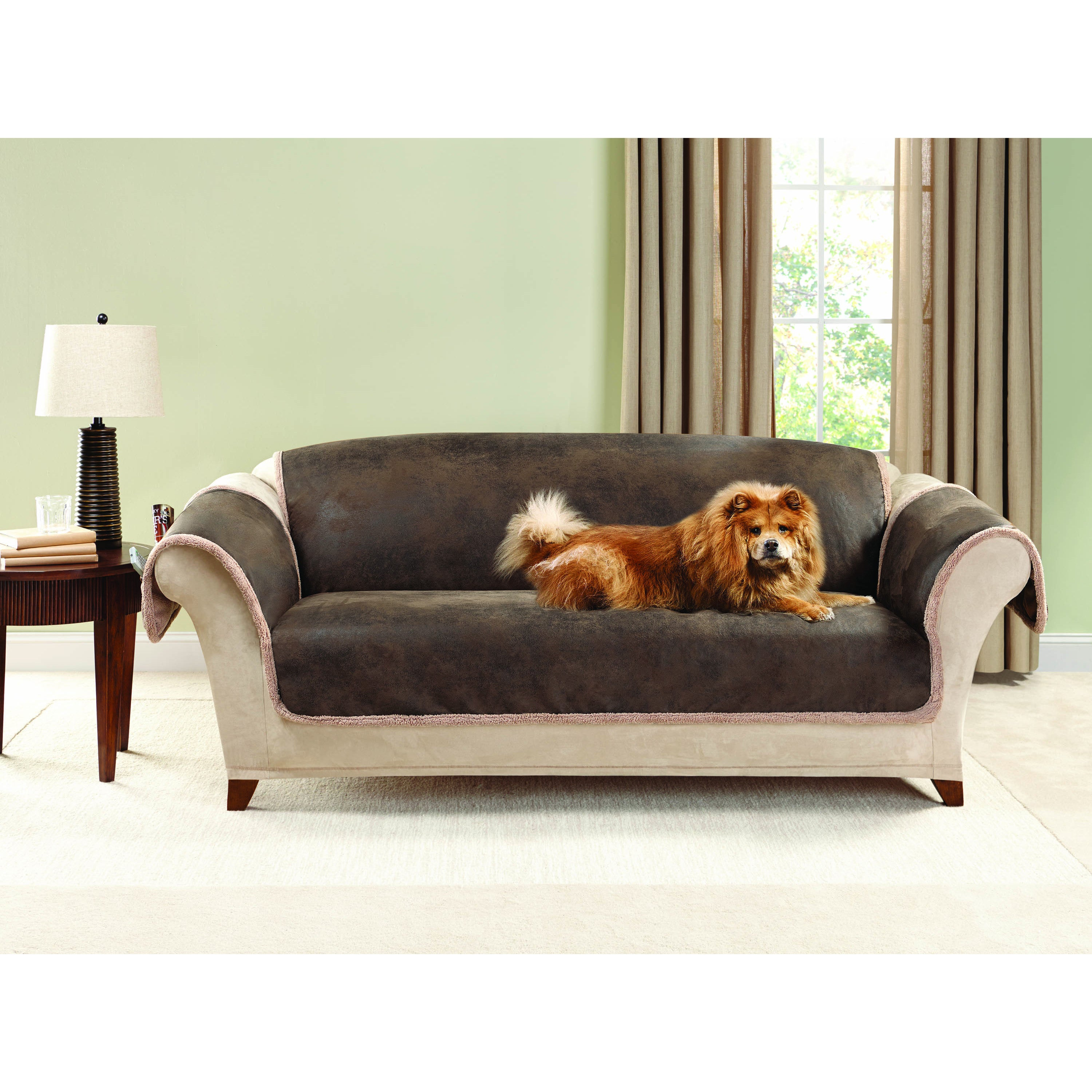 Sure Fit Vintage Leather Sofa Furniture Protector (Brown)...