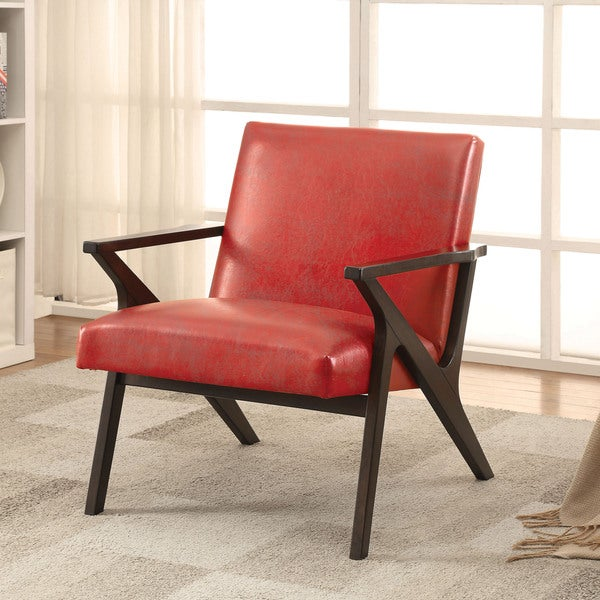 Furniture of america zelina modern leatherette accent