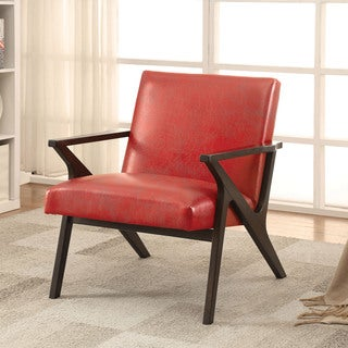 Furniture of America Zelina Modern Leatherette Accent Chair