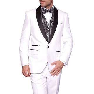 Statement Men's Capri-White 3-Piece Tuxedo Suit