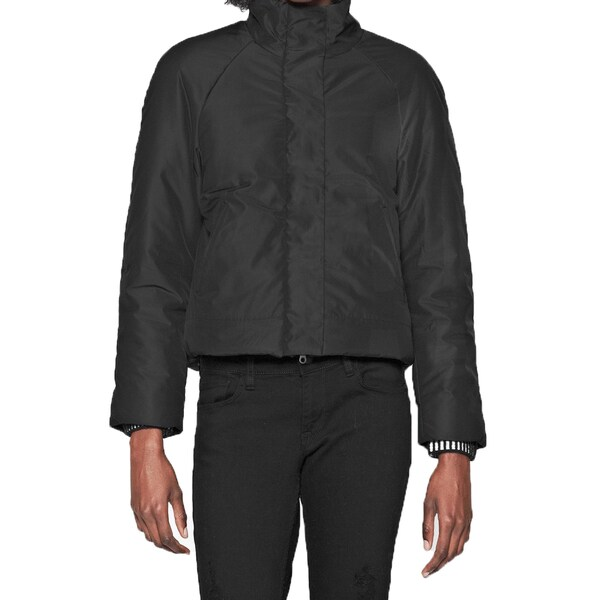 Shop French Connection Womens Misty Black Puffer Quilted Jacket