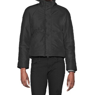 French Connection Women's Misty Black Puffer Quilted Jacket