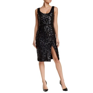 French Connection Women's Cosmic Black Sparkle Sequin Dress
