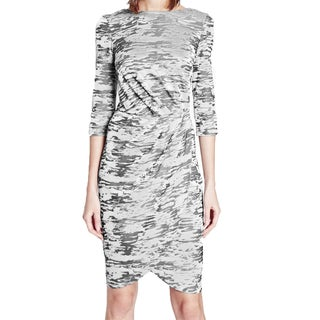 French Connection FC Jeans Women's Grey Jacquard Wrap Dress