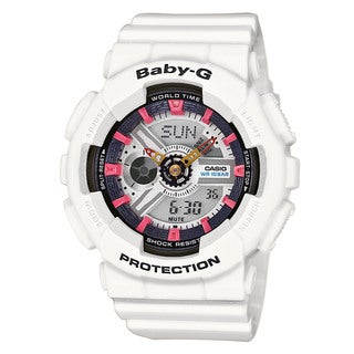 Casio Baby-G BA110SN-7ACR Women's Analog Digital White Resin Watch