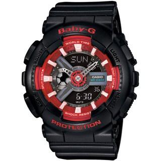 Casio Women's Baby-G BA110SN-1ACR Analog-Digital Black Resin Watch