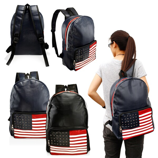 Shop Gearonic Fashion Cute American Flag Women Girl Canvas ...
