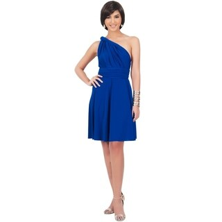KOH KOH Women's Convertible Multi Wrap Knee Length Dress