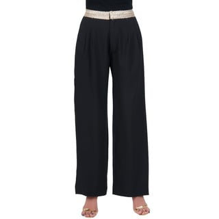 Koh Koh Women's High Waist Palazzo Chic Flare Pants