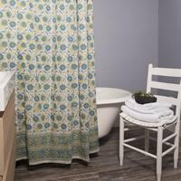 Handmade Double Vine Shower Curtain (India)