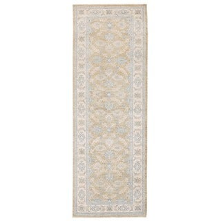 Herat Oriental Afghan Hand-knotted Vegetable Dye Oushak Wool Runner (2'8 x 7'8)