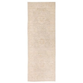 Herat Oriental Afghan Hand-knotted Vegetable Dye Oushak Wool Runner (2'7 x 7'7)