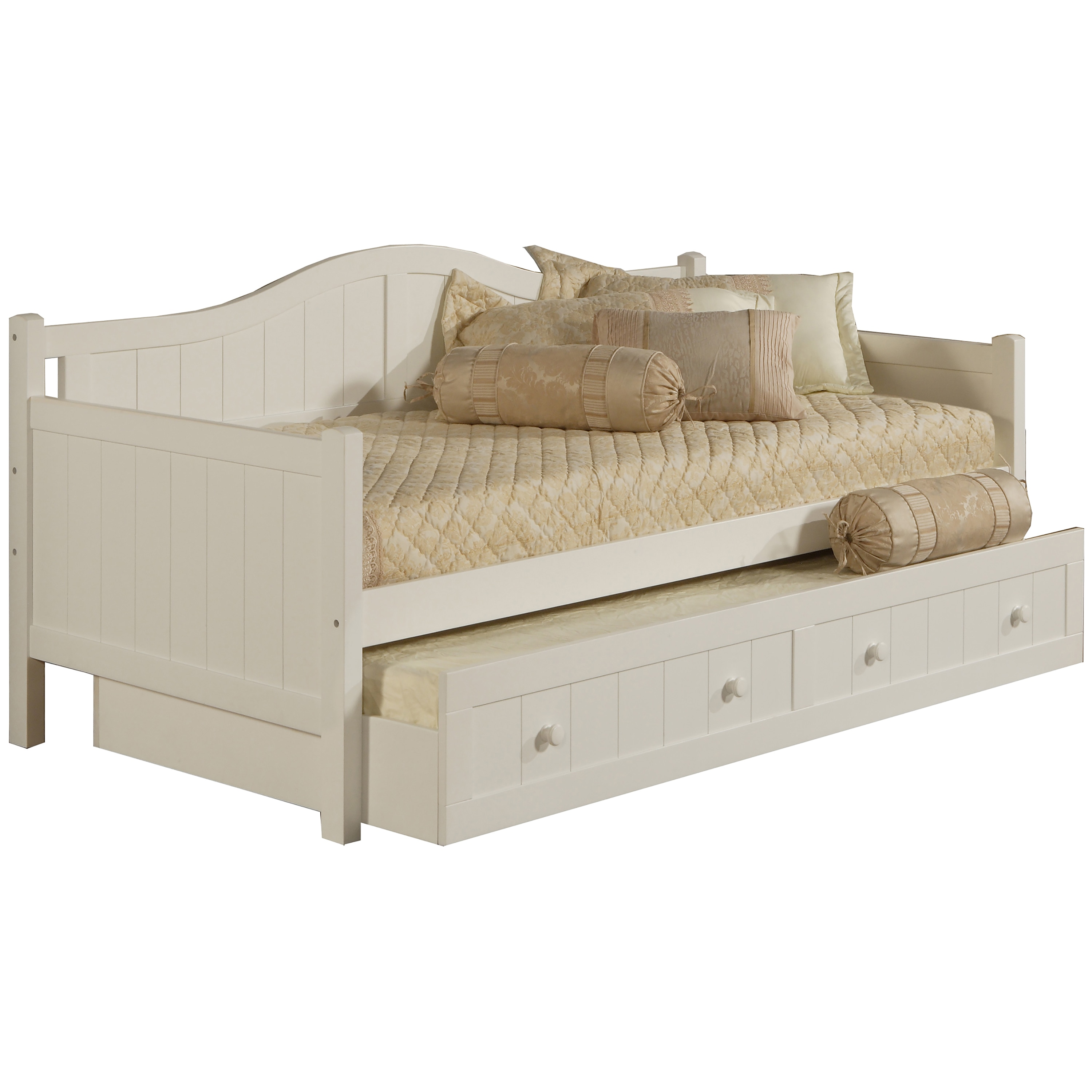 Hillsdale Furniture Staci White Daybed (With Trundle), Si...