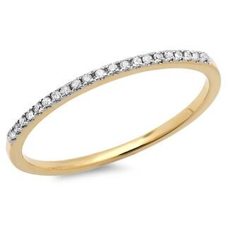 14k Gold 1/10ct TDW Round White Diamond Anniversary Band (I-J, I2-I3)