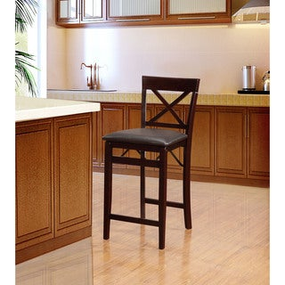 Linon Carla X Back Folding Counter Stool