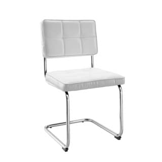 Linon Wendy Chairs - White (Set of 2)