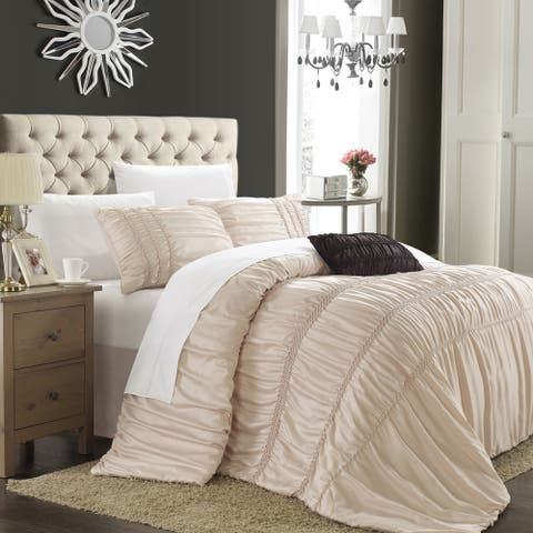 Chic Home Romano Taupe 4-piece Duvet Cover Set