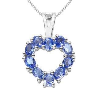 Sterling Silver 1 1/2ct TGW Tanzanite Pendant
