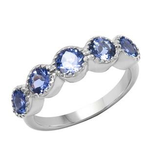 Sterling Silver 1 1/2ct TGW Tanzanite Ring