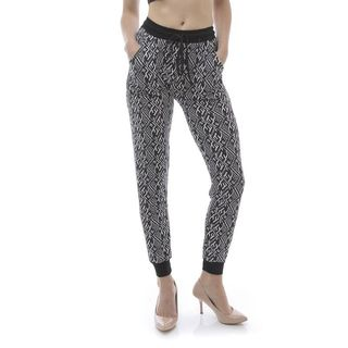 Soho Women Square Zebra Print Jogger Pants