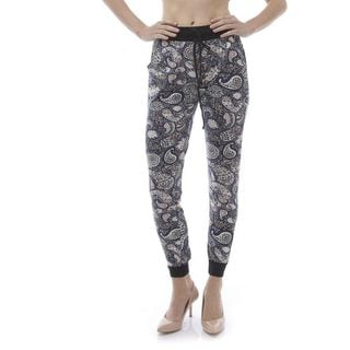 Soho Women Garden Paisley Print Jogger Pants