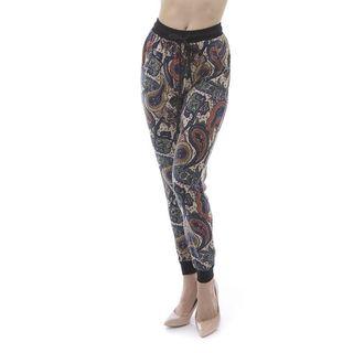 Soho Women Multi Paisley Print Jogger Pants