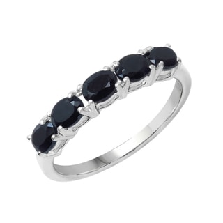 Sterling Silver 1 5/8ct TGW Blue Sapphire Ring