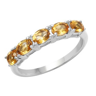 Sterling Silver 3/4ct TGW Citrine Ring