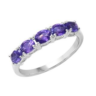 Sterling Silver 7/8ct TGW Amethyst Ring
